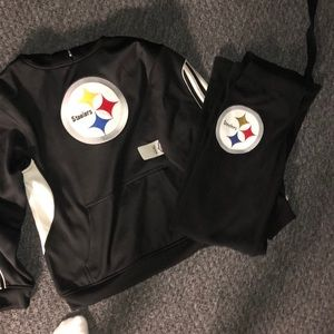 Steelers XL(Youth) hoodie & XS(women's) PINK pant